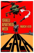 Israeli Apartheid Week 2009 poster